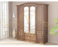 Шкаф из массива сосны 4 створчатый Венеция