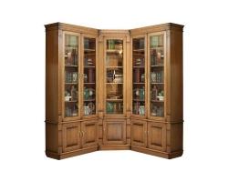 Угловой книжный шкаф из массива Верди 149