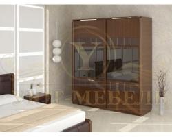 Шкаф из массива сосны 2 створчатый Арикама купе со свитильниками