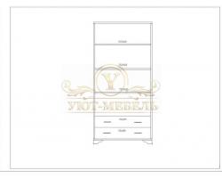 Шкаф из массива 2 створчатый Витязь 114