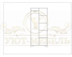Шкаф из массива 2 створчатый Виттрия купе