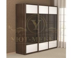 Шкаф из массива сосны 3 створчатый Арикама купе