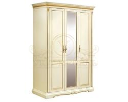 Шкаф из массива сосны 3 створчатый Бостон с зеркалом