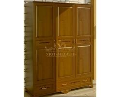 Шкаф из массива сосны 3 створчатый Соната