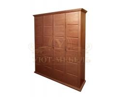 Шкаф из массива сосны 4 створчатый Альба