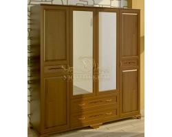 Шкаф из массива сосны 4 створчатый Соната