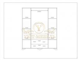 Шкаф из массива 4 створчатый Таката