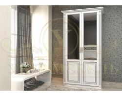 Шкаф из массива сосны 2 створчатый Британия с зеркалами