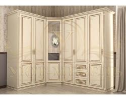 Шкаф из массива сосны угловой Лирона