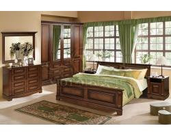 Белорусская мебель спальный гарнитур из массива Венето