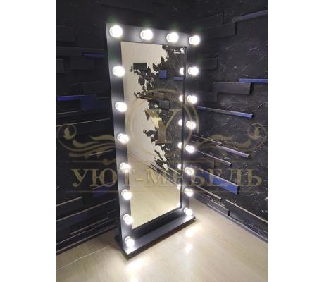 Купить гримерное зеркало 80см*180см на подставке с колесами