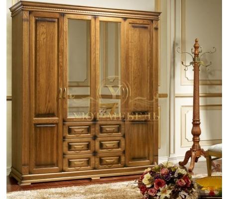 Шкаф из массива 4 створчатый Верди 1005