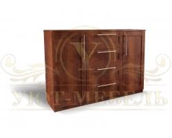 Комод из дерева Оттава 4 ящика и 2 дверки