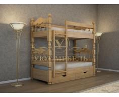 Двухъярусная кровать из массива Точенка
