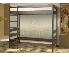 Двухъярусная кровать из массива Икея чердак