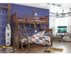 Двухъярусная кровать из массива Пират