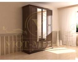 Шкаф из массива 4 створчатый Фиджи с зеркалом
