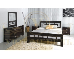 Спальный гарнитур из массива Сакура